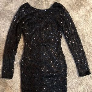 Forever 21 black sequined dress. Size small